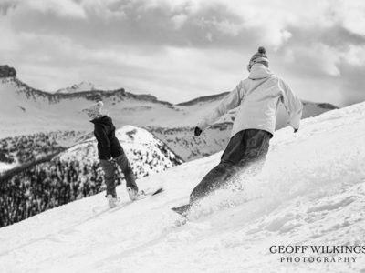 Lake Louise Ski Hill Engagement Session