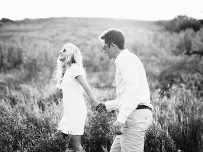 Lush Calgary Countryside Engagement Shoot in  Fish Creek
