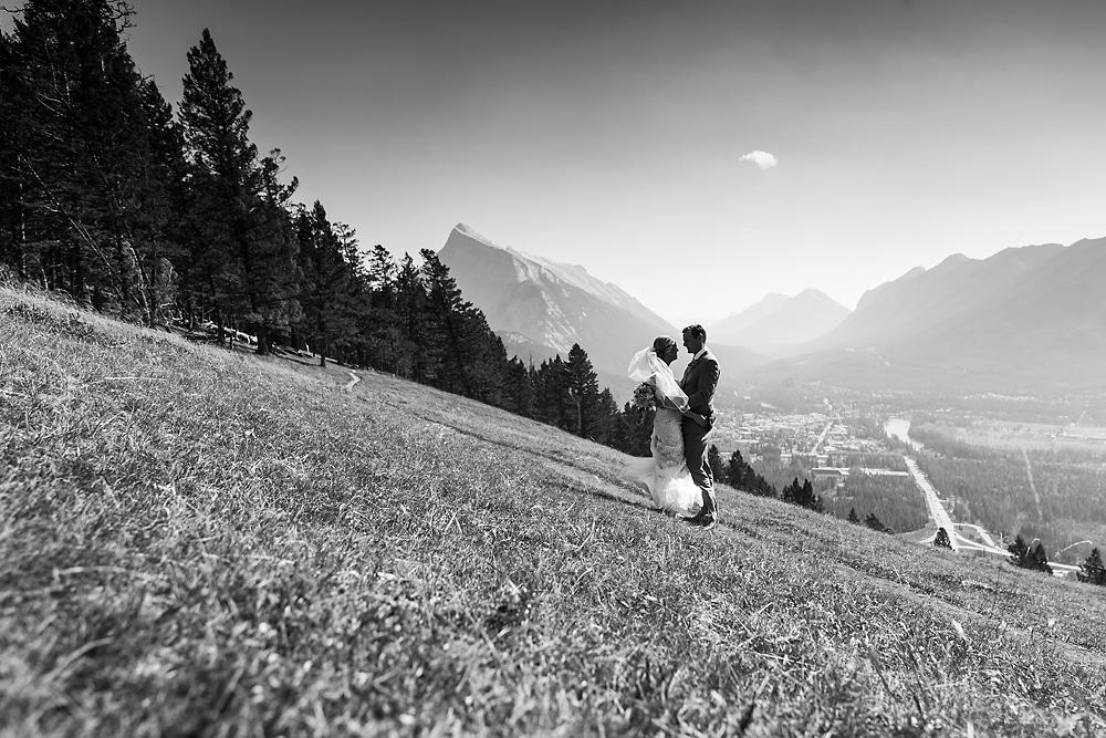 Bride and Groom Banff National Park