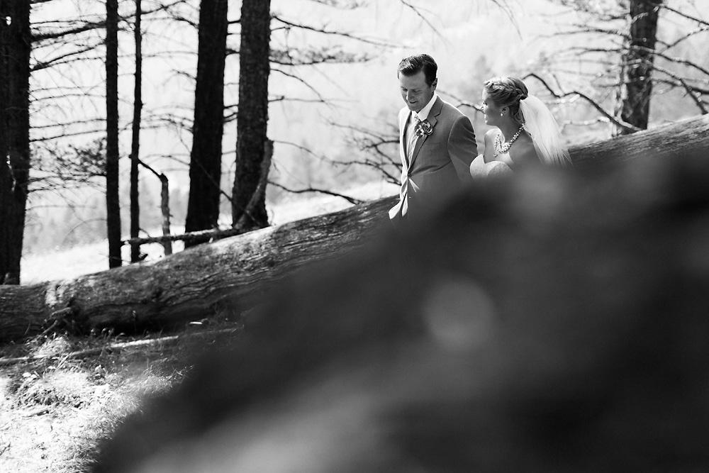 Bride and Groom Banff wedding photos