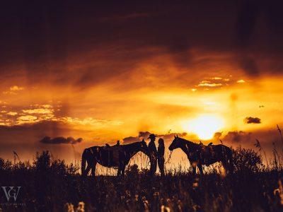 Horses + Ranch Setting Photo Engagement Shoot