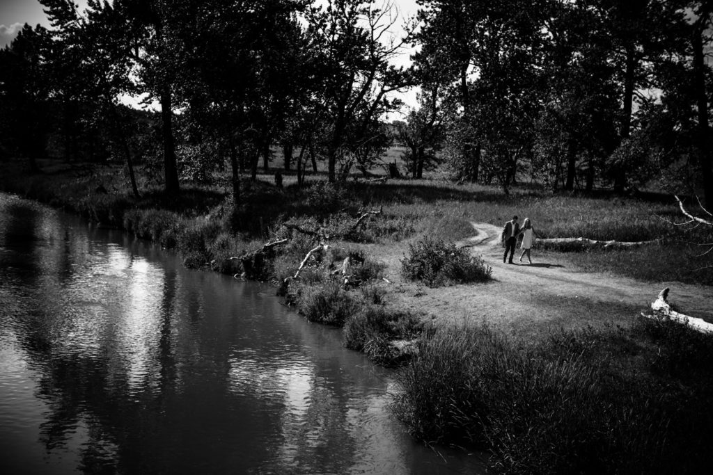 Fish Creek engagement photography photo shoot by Calgary engagement photographer