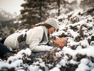 Winter Engagement Photography Shoot Banff National Park