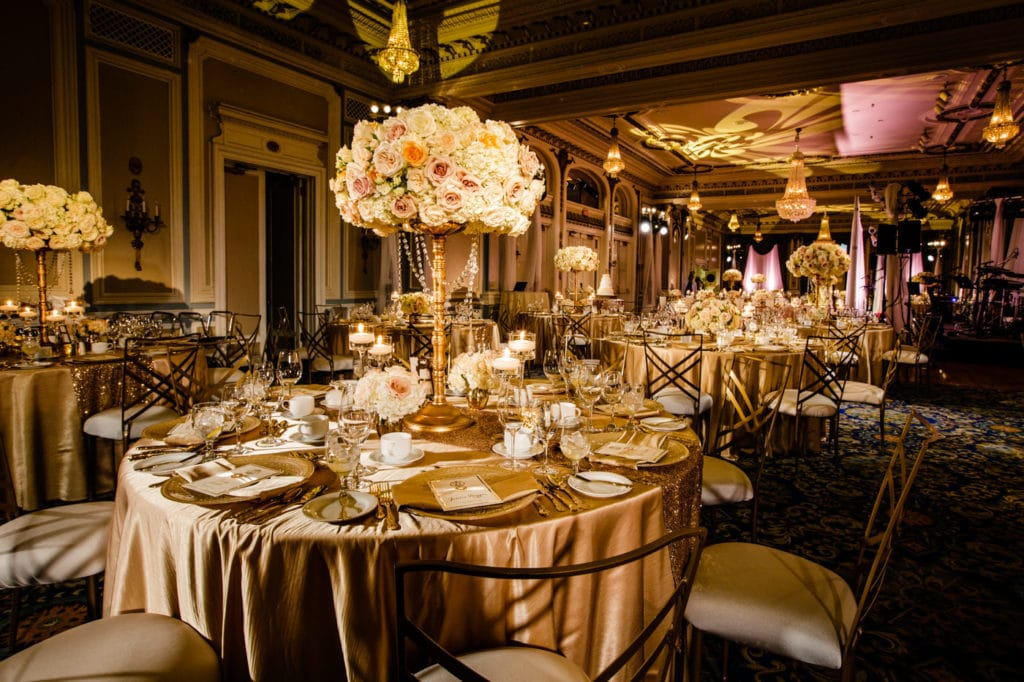 exquisite ballroom perfectly planned by a professional wedding planner