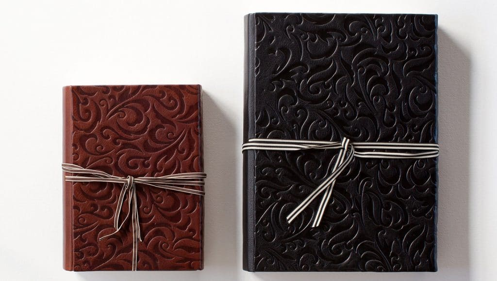 Handmade albums designed by Geoff Wilkings Photography