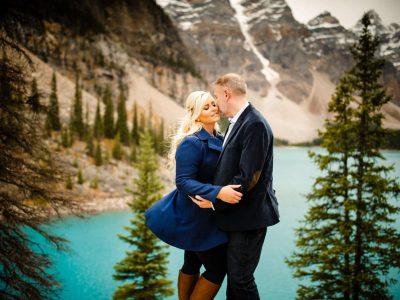 Ashley + Brad | Moraine Lake<BR>The Canadian Rockies