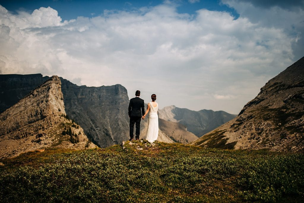 Helicopter Elopement Alpine helicopter wedding Canmore rockies helicopter wedding by Calgary Wedding Photographer