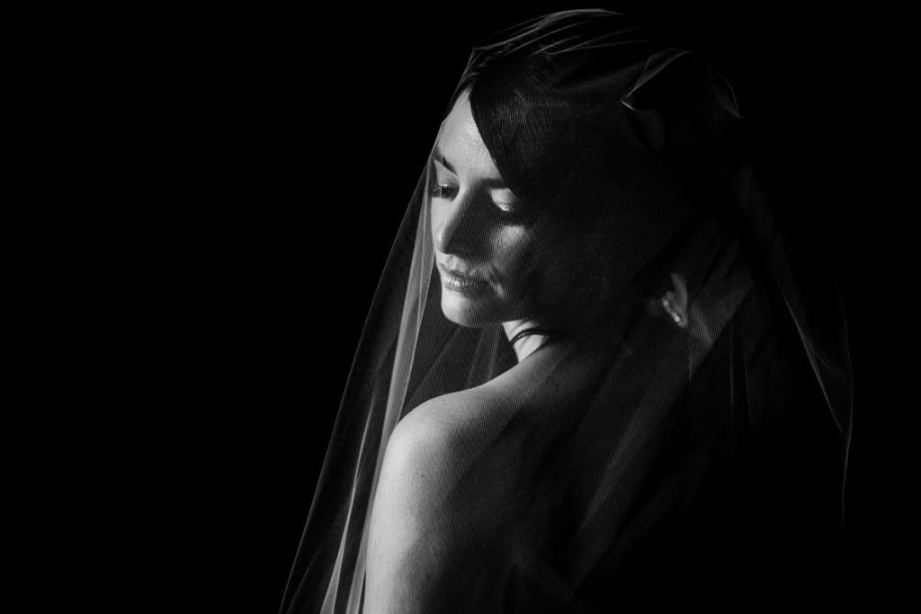 stunning wedding day bridal photograph located at the incredible Banff Springs Hotel in the Canadian Rockies