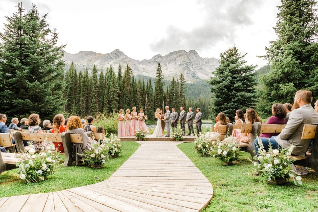 A ceremony photograph photographed by a Calgary wedding photographer