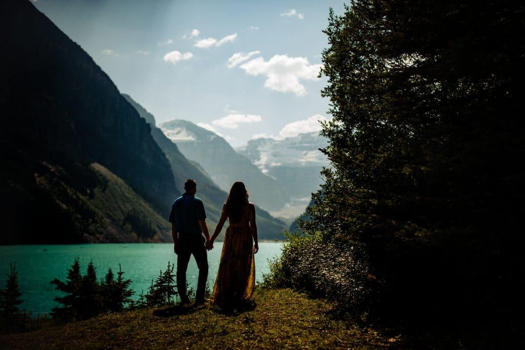 Chateau Lake Louise wedding proposal & engagement shoot