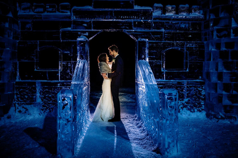 winter wedding castle on Lake Victoria
