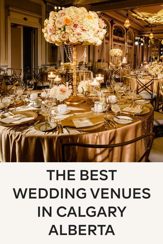 The best wedding venues in Calgary Alberta