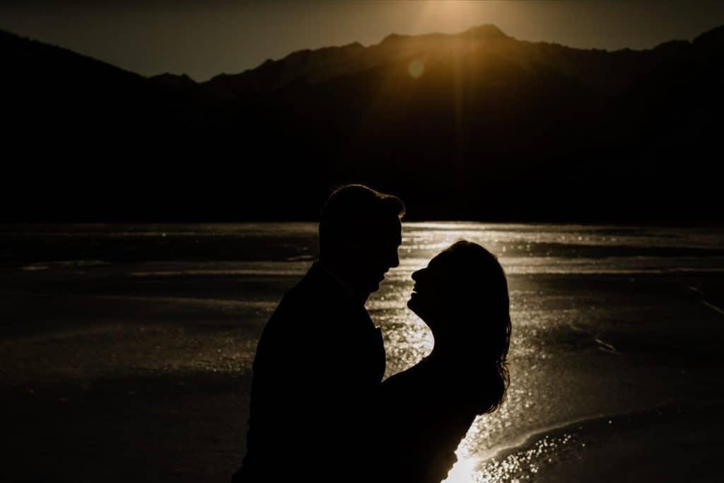 Vermillion Lake Engagement Photo Shoot Banff National Park